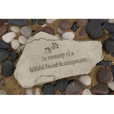 Evergreen Enterprises, Inc In Memory of a Faithfull Friend and Companion Garden Stone Decor