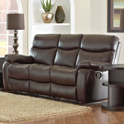 New Amsterdam Home Theater Bonded Leather Recliner (Row of 3)