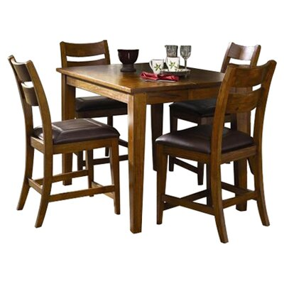 Klaussner Furniture Urban Craftsmen 5 Piece Counter Height Dining Set