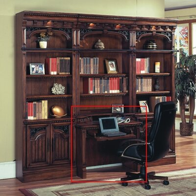 Parker House Furniture Barcelona Library Writing Desk with Hutch