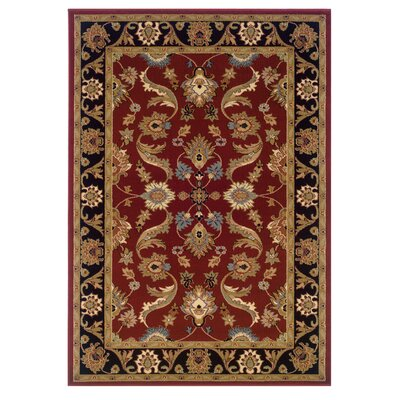LR Resources Adana Red/Black Persian Rug