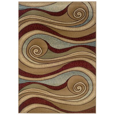 Adana Brown/Blue Swirling Rug