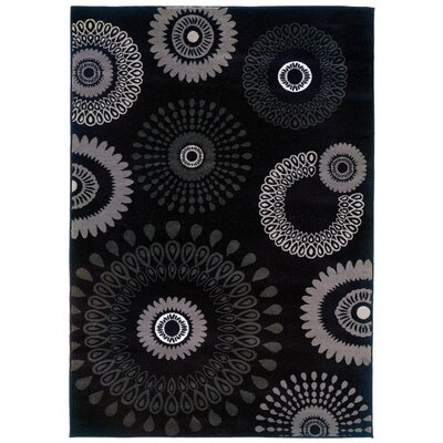 LR Resources Adana Charcoal Kaleidoscopic Rug