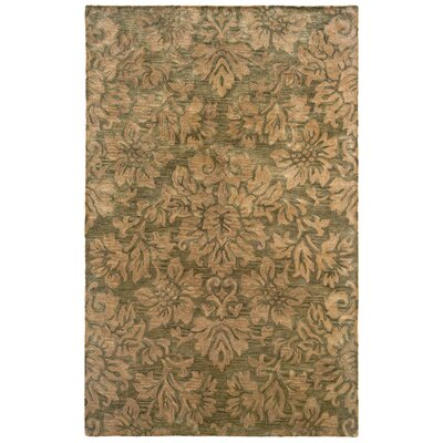 Majestic Green Bold Floral Rug