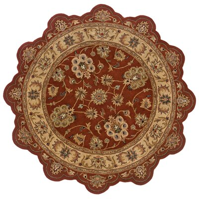 Shapes Rust/Gold Persian Rug