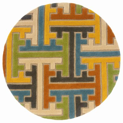 LR Resources Vibrance Beige Geometric Puzzle Rug