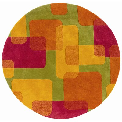 LR Resources Vibrance Lime Squares and Rectangles Rug