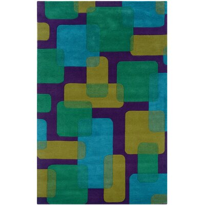 LR Resources Vibrance Purple Geometric Rug
