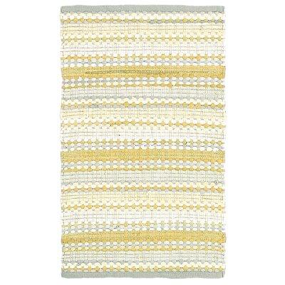 Dhurry Yellow/Gray Rug