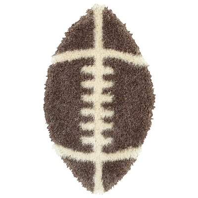 LR Resources Senses Shag Football Kids Rug