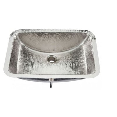 Nickel Starr Hammered Bathroom Sink - BRU-2115BRN
