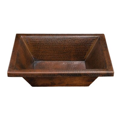 Diego Rectangular Hand Hammered Copper Bathroom Sink