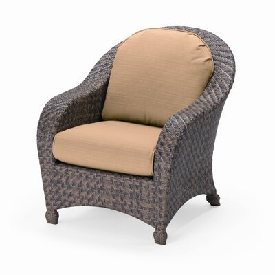 key biscayne cushion wicker arm chair wayfair. Black Bedroom Furniture Sets. Home Design Ideas