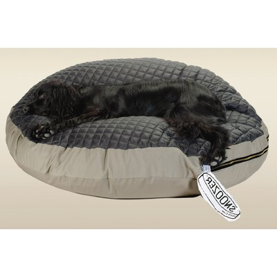 Snoozer Pet Products Round Pet Bed with Black Quilted Top