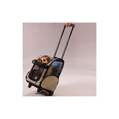 Snoozer Pet Products Wheel Around Travel Pet Carrier in Khaki