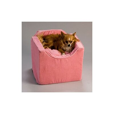 Snoozer Pet Products Luxury Lookout I Pet Car Seat in Pink Microsuede