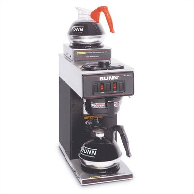 12-Cup Two-Station Commercial Pour-O-Matic Coffee Brewer