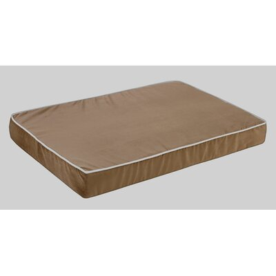 Bowsers Isotonic Plat Microvelvet Dog Foam Mattress