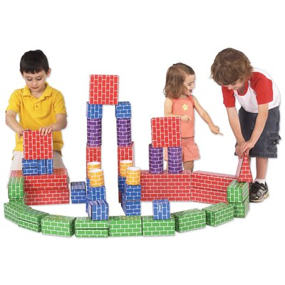 Metro Design 48 Piece Corrugated Super Brick Set with Many Different Shapes