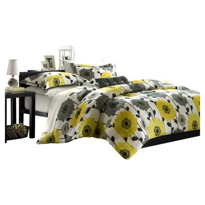 Mi-Zone Anthea Big Flower Comforter Set