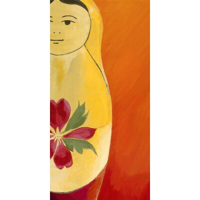 emma at home by Emma Gardner Matryoshka Half face Giclee Print Art