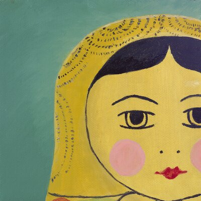 emma at home by Emma Gardner Matryoshka Tiny Face Giclee Painting Print on Canvas