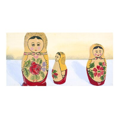 emma at home by Emma Gardner Matryoshka Group Stare Giclee Painting Print on Canvas