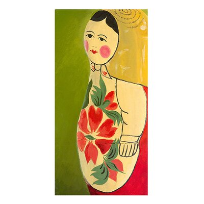 emma at home by Emma Gardner Matryoshka Three-Quarter Face Giclee Print Art