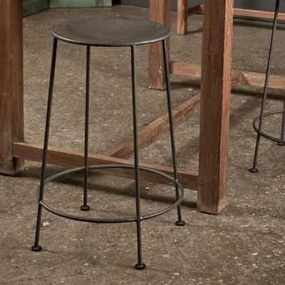 CG Sparks Iron Counter Stool in Zinc (Set of 2)