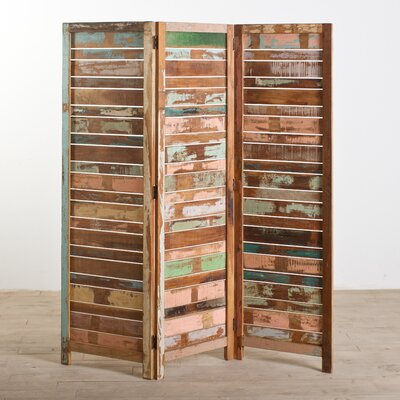 CG Sparks Reclaimed Wood 3 Panel Screen