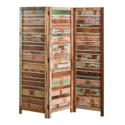 "CG Sparks 71"" x 50"" Reclaimed 3 Panel Room Divider"