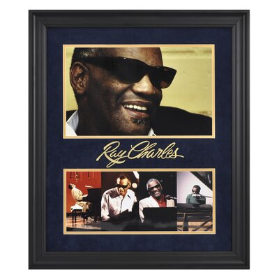"Mounted Memories Ray Charles Limited Edition Framed Presentation - 24"" X 20"""