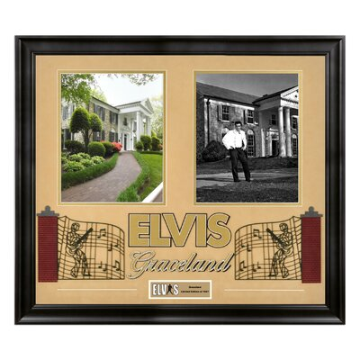 "Mounted Memories Elvis Presley ""Graceland"" Framed Presentation - 23"" X 25"""