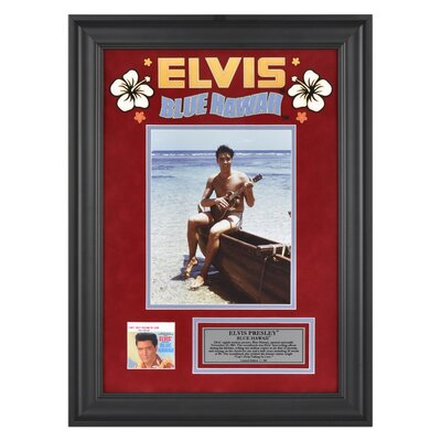 "Mounted Memories Elvis Presley ""Blue Hawaii"" Framed Presentation - 23"" X 16"""