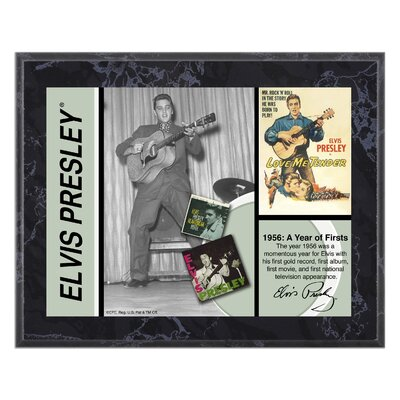 "Mounted Memories Elvis Presley ""1956"" Plaque - 10.5"" X 13"""