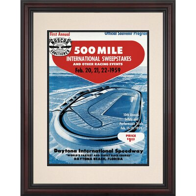 "Mounted Memories NASCAR Framed 8.5""  x 11"" Daytona 500 Program Print"