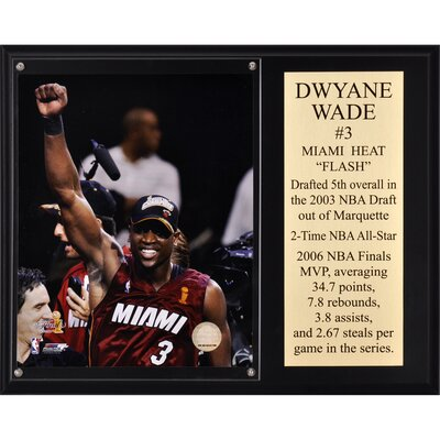 Dwyane Wade Miami Heat 2006 NBA Champions Sublimated Plaque