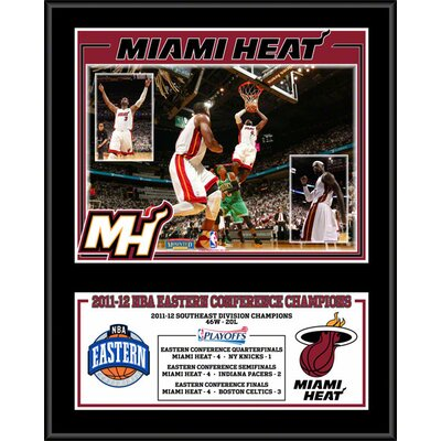 Mounted Memories Miami Heat 2012 Eastern Conference Champions Sublimated Plaque