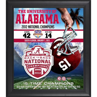Mounted Memories Alabama Crimson Tide 2012 BCS National Champions Framed Collage