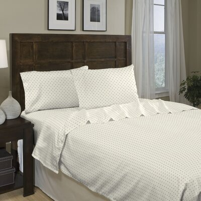 Printed Dot 250 Thread Count Cotton Sateen Sheet Set