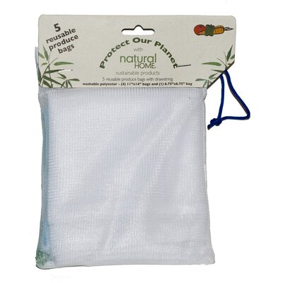 Natural Home Five Pack Reusable Produce Bags