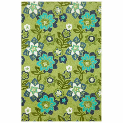 Liora Manne Scattered Green Flowers Rug