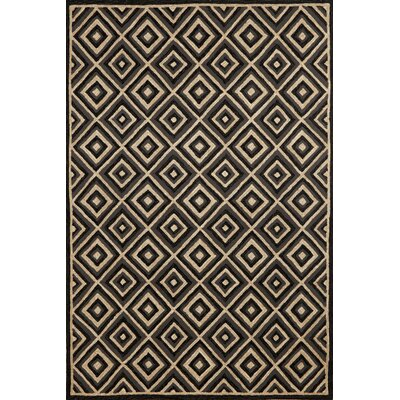 Liora Manne Carlton Charcoal Diamond Indoor/Outdoor Rug