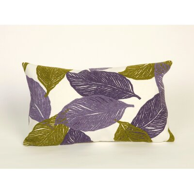 Liora Manne Mystic Leaf Rectangle Indoor/Outdoor Pillow in Purple