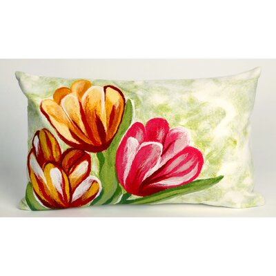 Liora Manne Tulips Rectangle Indoor/Outdoor Pillow in Warm