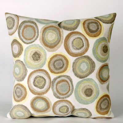 Liora Manne Puddle Dot Square Indoor/Outdoor Pillow