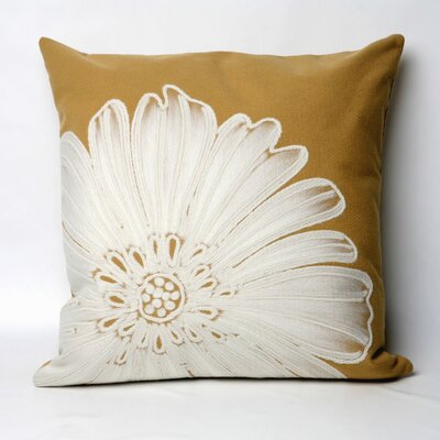 Liora Manne Antique Medallion Square Indoor/Outdoor Pillow in Gold