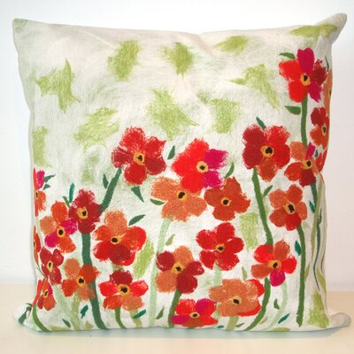 Liora Manne Poppies Square Indoor/Outdoor Pillow