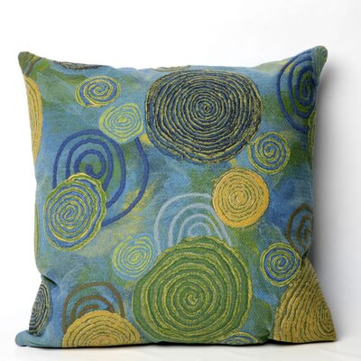 Liora Manne Graffiti Swirl Square Indoor/Outdoor Pillow in Cool