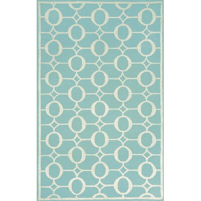 Liora Manne Spello Arabesque Aqua Outdoor Rug
